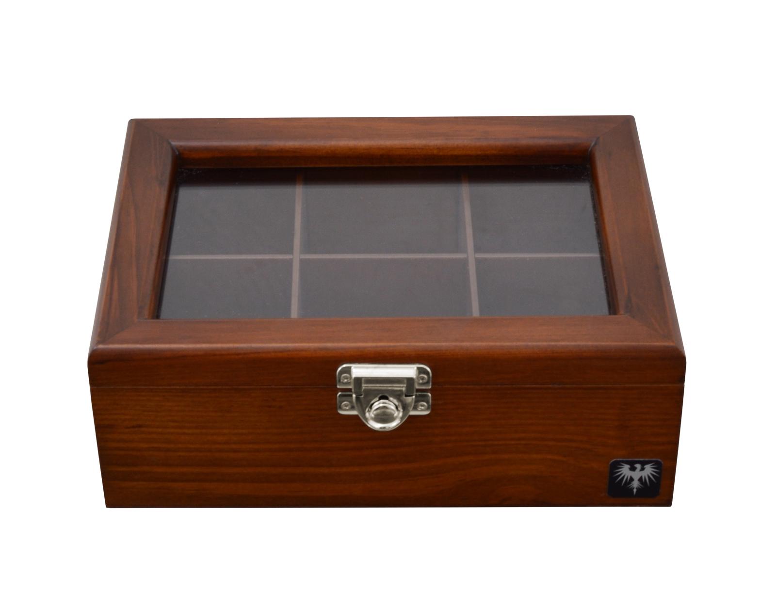 porta-cha-6-casulos-madeira-macica-tabaco-caixa-de-cha-imagem-6.JPG