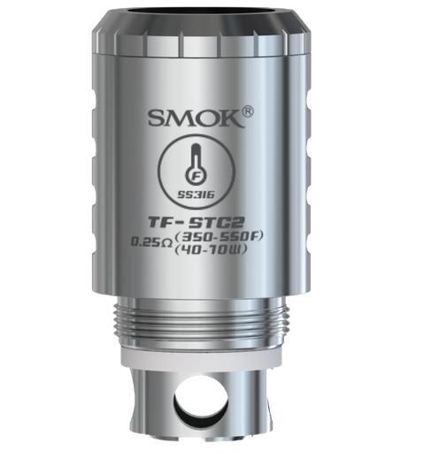 Pack com 5 Bobina |TFV4 / Mini | Dual Coil Stainless Steel TF-STC2 - Smok