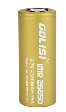 Bateria 26650 Li-ion 4300mAh High-drain 35A Flat Top - Golisi S43