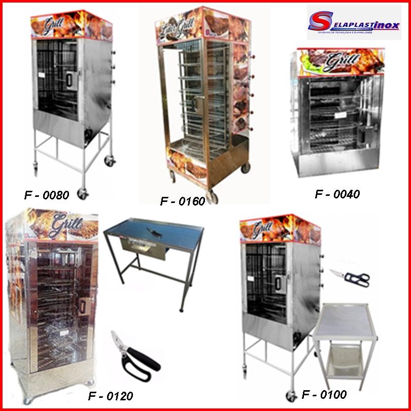 maquina de assar frangos e carnes