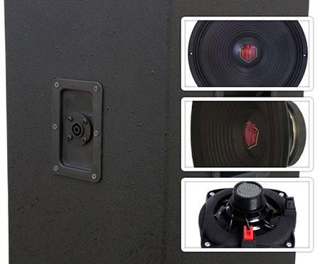 caixa de som profissional 3 vias 300 watts rms 15 polegadas