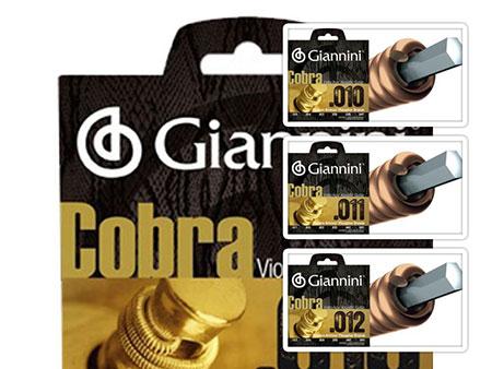 encordoamento violão aço Giannini cobra fosforo bronze
