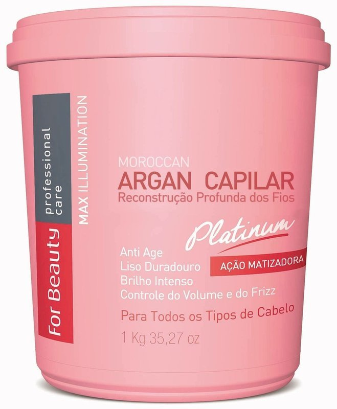 For Beauty Argan Capilar Platinum Max Illumination