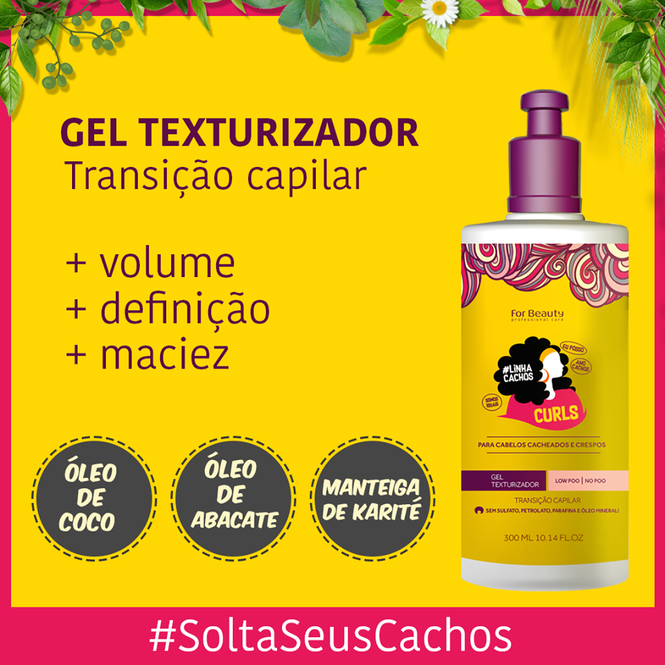 Gel Texturizador Linha Cachos Curls For Beauty