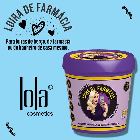 Máscara Matizadora Loira de Farmácia Lola Cosmetics