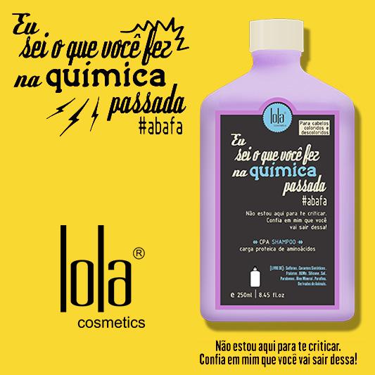 Shampoo Eu sei o que você fez na química passada Lola Cosmetics