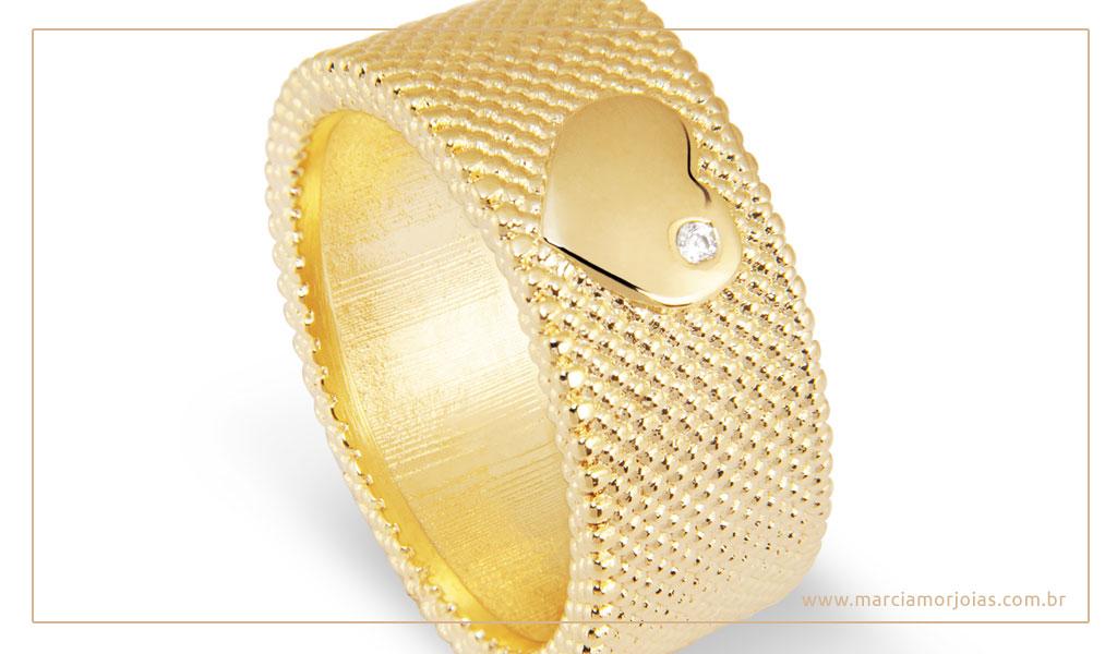 anel de ouro 750