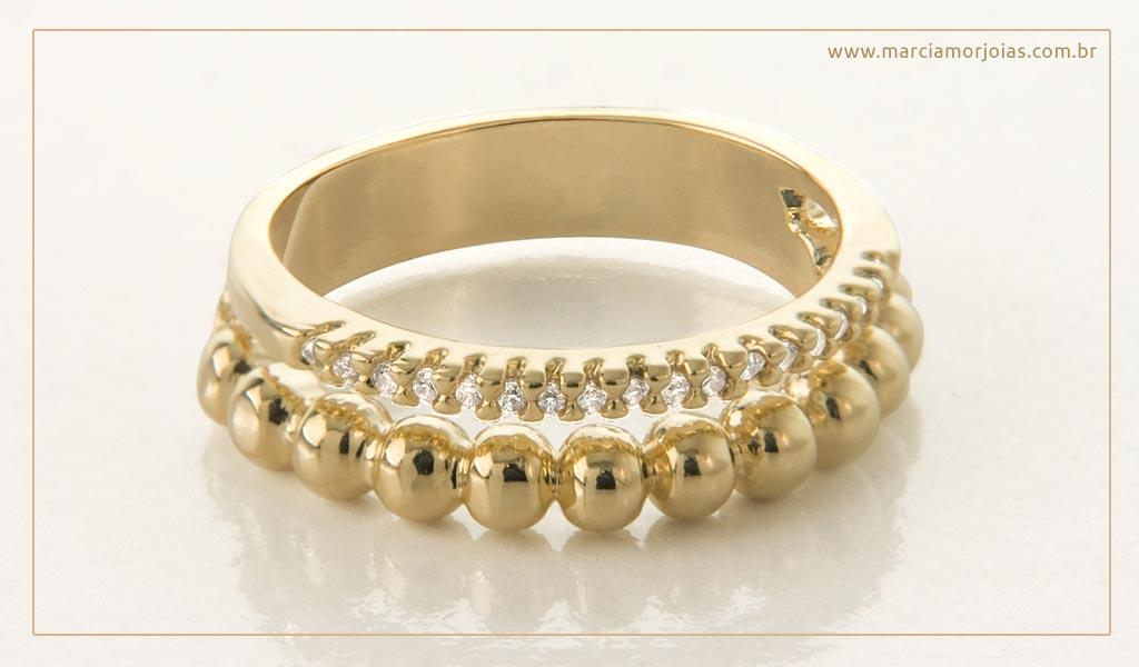 anel feminino em ouro 18 k