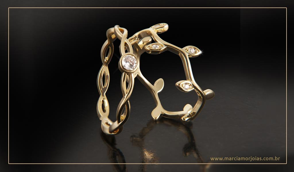 anel de ouro feminino