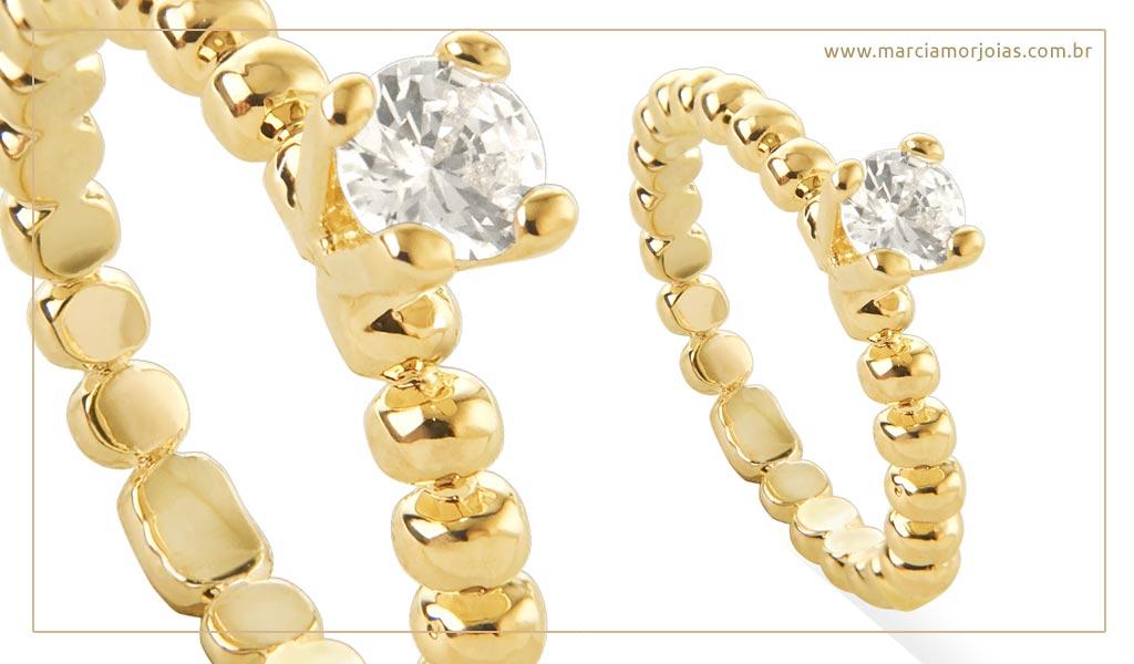 anel em ouro feminino