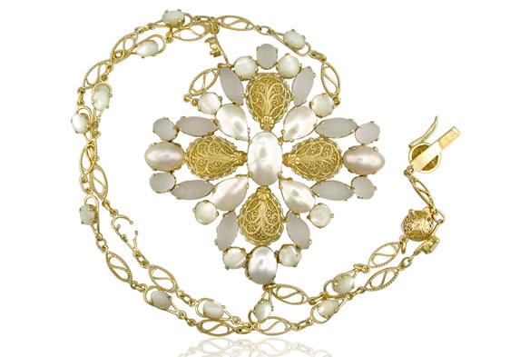 gargantilha de ouro 750 feminina