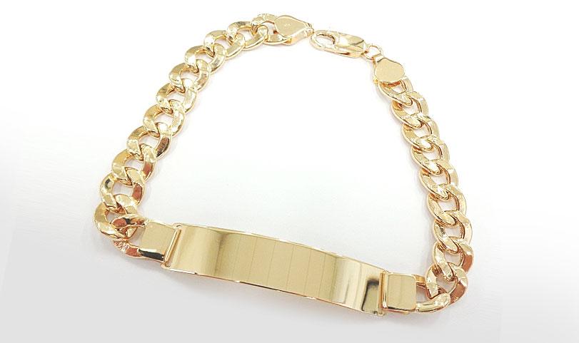 pulseira de ouro masculina groumet