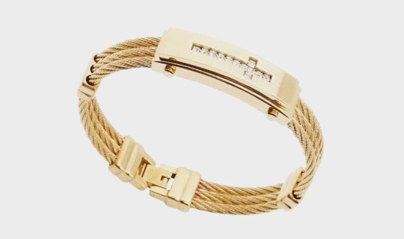 pulseira de ouro para homens