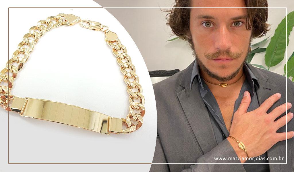 pulseira de ouro masculina
