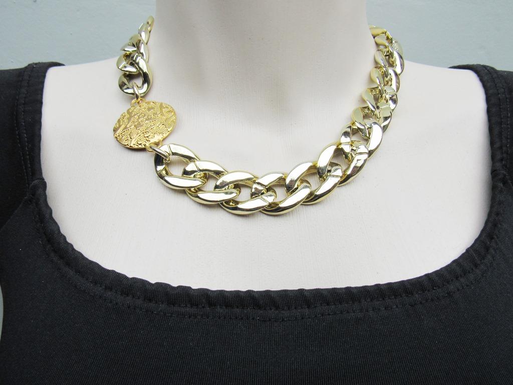 colar corrente dourada