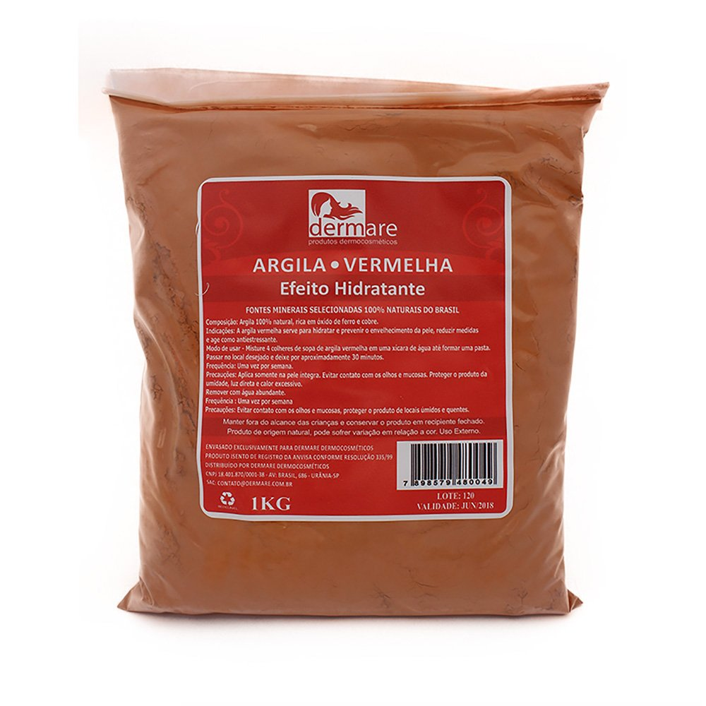 Dermare Argila Vermelha - 1Kg