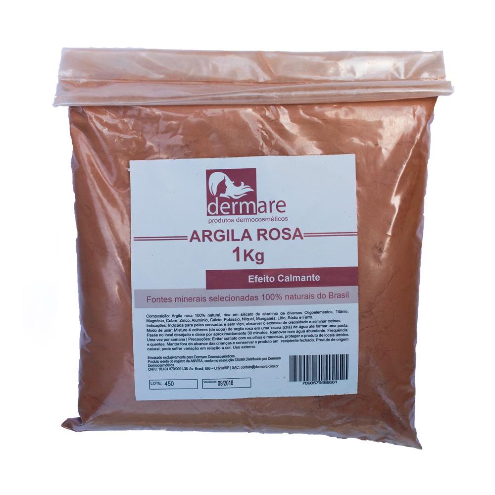 Argila Rosa Facial e Corporal Dermare Efeito Calmante - 1kg