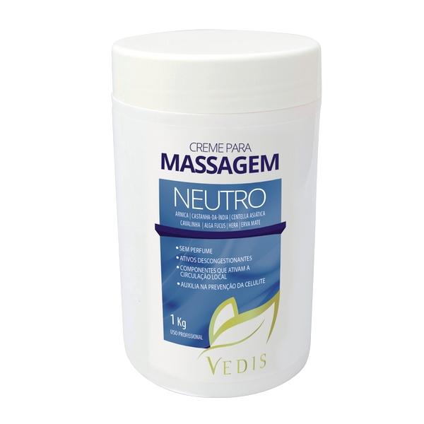 Creme de Massagem Neutro Sem Perfume Vedis - 1kg