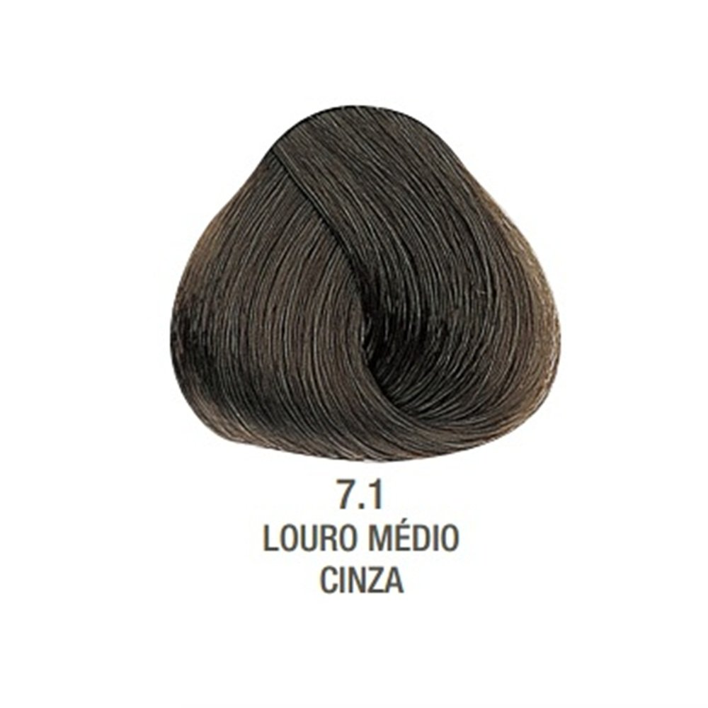 Tintura Creme Evolution Alfaparf 7.1 Louro Médio Cinza - 60ml
