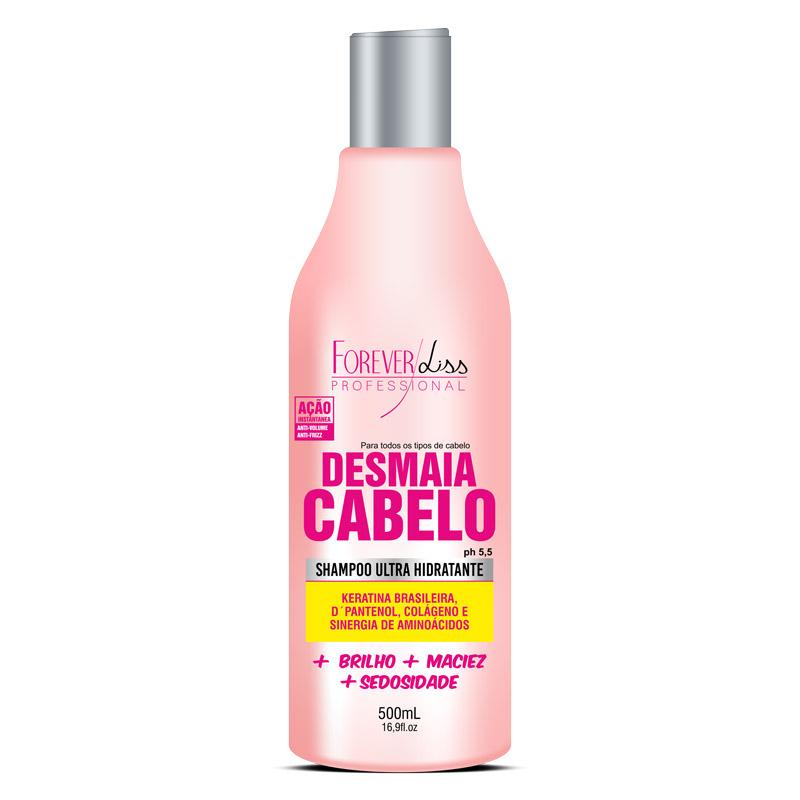 Desmaia Cabelo Shampoo Hidratante Forever Liss - 500ml