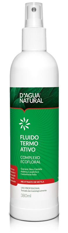 D'água Natural Fluído Termo Ativo Ecofloral com Nicotinato de Metila - 380 ml