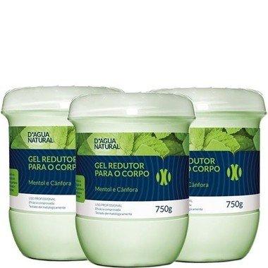 Gel Dagua Natural Redutor de Gordura Abdominal - 3 Potes