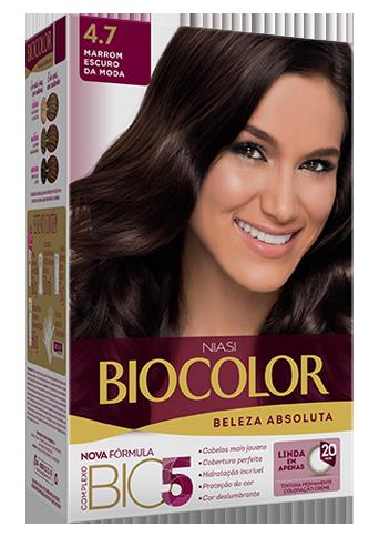 Tintura Biocolor Marrom Escuro da Moda 4.7