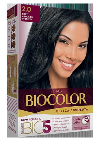 Biocolor Kit Tintura Creme Preto Azulado Incrível - 2.0
