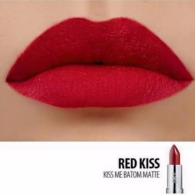 Batom Efeito Mate Eudora Red Kiss