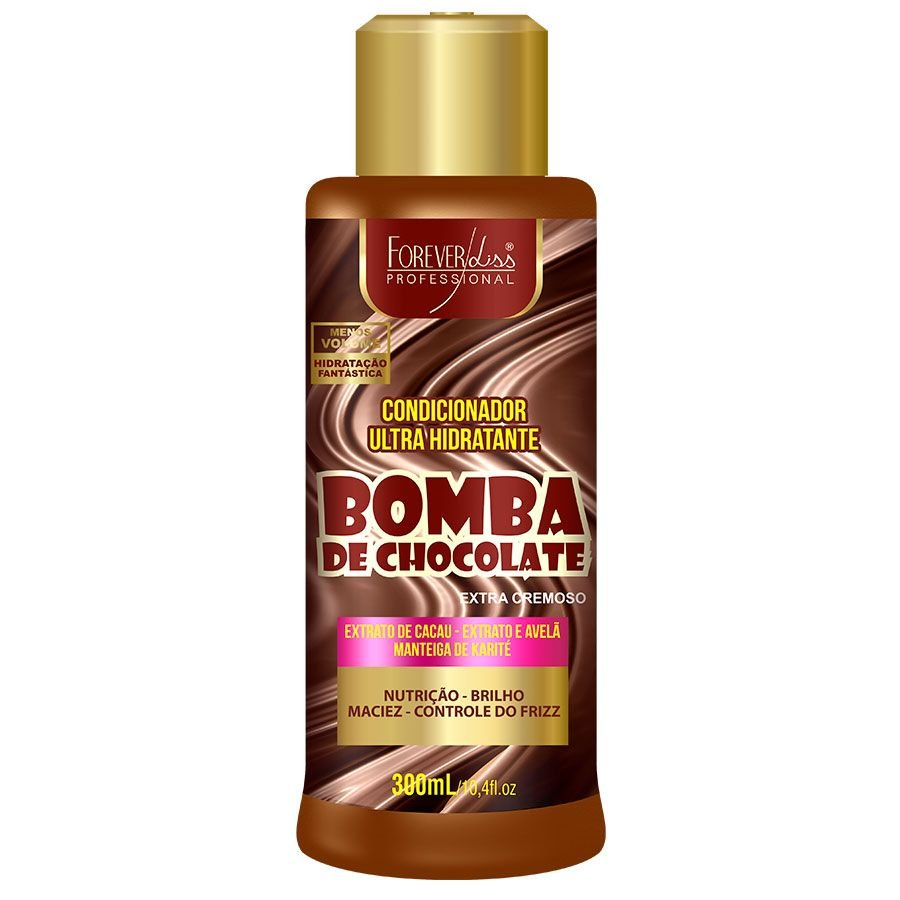 Condicionador Ultra Hidratante Bomba de Chocolate Forever Liss - 300ml