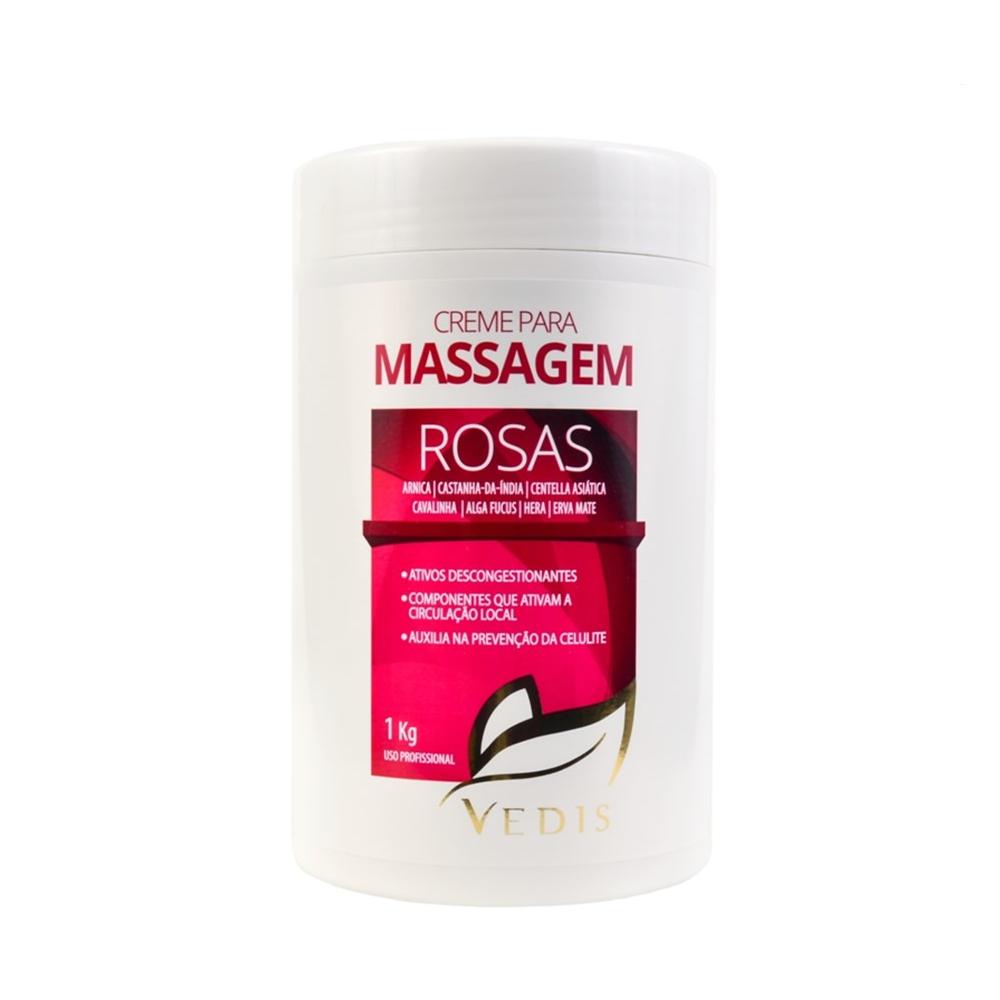 Creme de Massagem Vedis Rosas 1kg