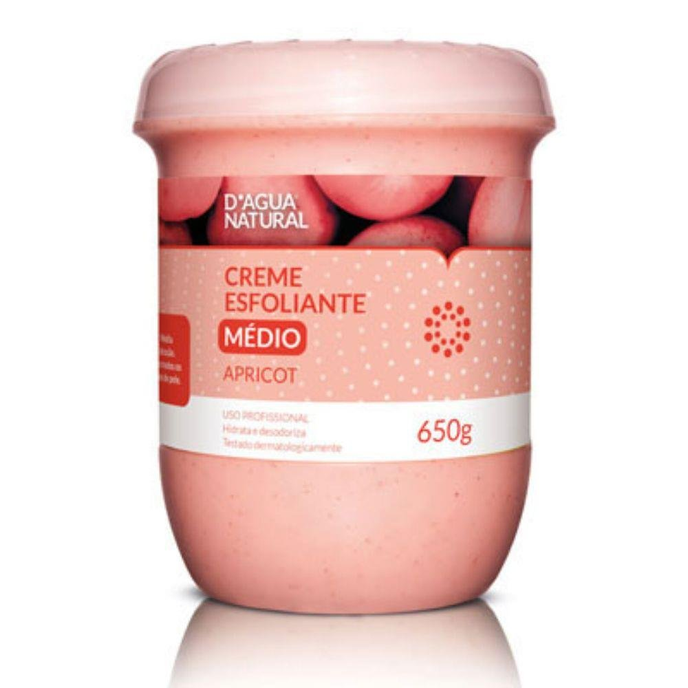 D'agua Natural Creme Esfoliante Apricot Media Abrasão 650g