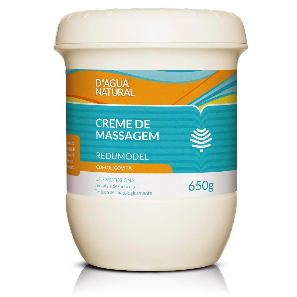 D´agua Natural Creme Massagem Redumodel com Oligovita 650g