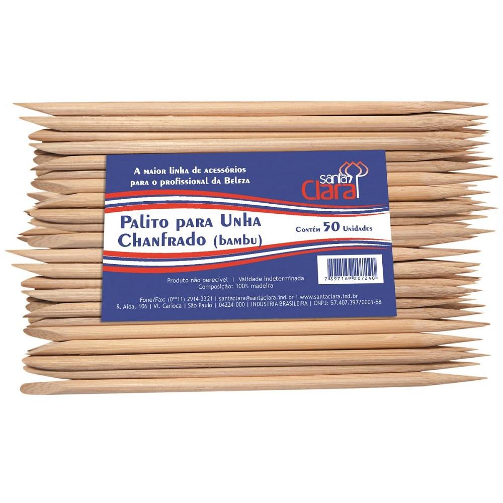Palido para Unhas de Bambu Santa Clara 50 Unidades