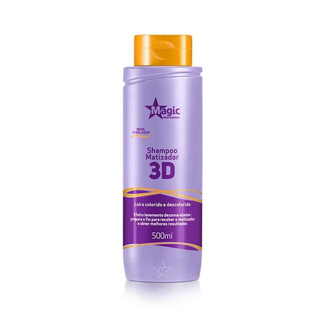 Shampoo Matizador 3D Magic Color - 500ml