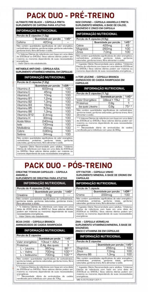 7a5fe4c28 TITANIUM PACK DUO 44 PACKS - MAX TITANIUM - C B NUTRITION