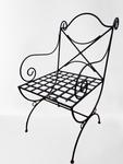 Cadeira em ferro madeira com braço  Para Jardim