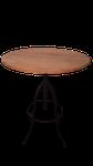 Mesa bistrô em ferro madeira regulagem