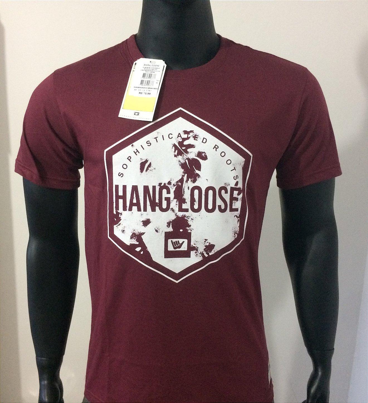 Camisetas Hang Loose Bordô - Coleção 2019 - Atacado 06 peças ... 05ad236261b5c