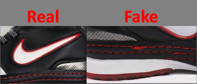 3dc1e8d84 Frequentemente, os fabricantes de Nike falsos colocam etiquetas que já não  são mais atuais na lingueta do calçado. Etiquetas falsas podem ser  identificadas, ...