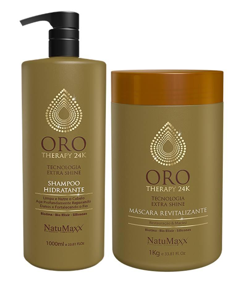 Kit Oro Therapy 24k Profissional Natumaxx 2 Itens