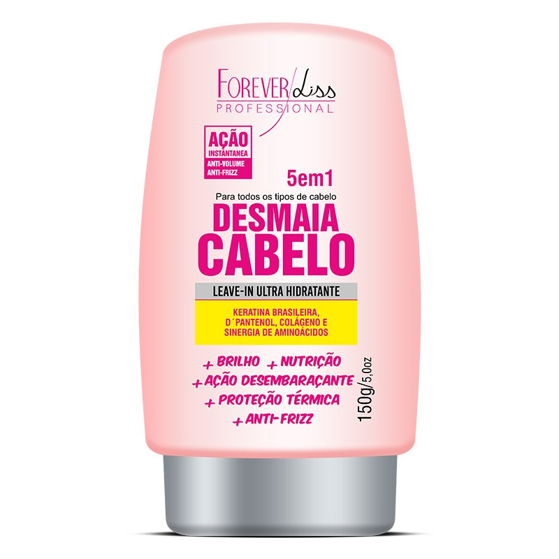 O Leave in Ultra Hidratante Desmaia Cabelo Forever Liss 150g