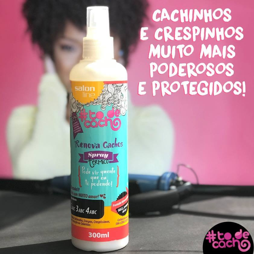 Spray Térmico Renova Cachos #todecacho Salon Line 300ml 1