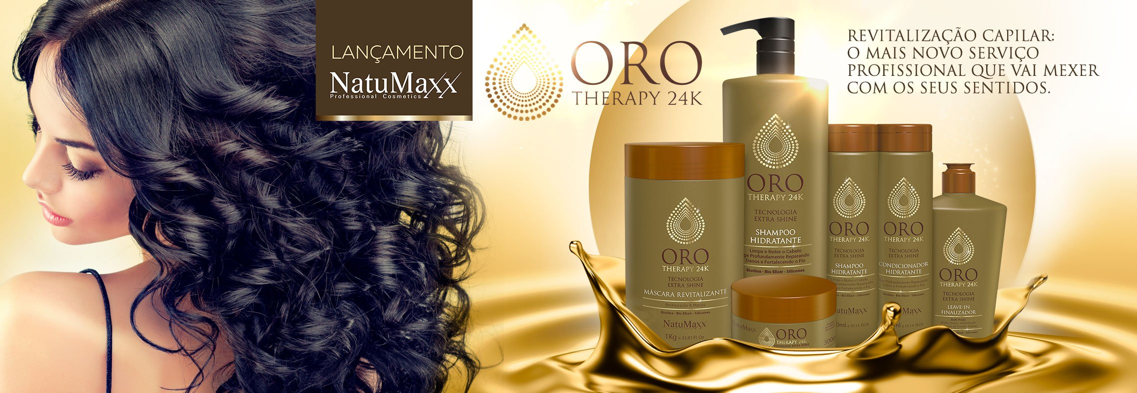 Kit Oro Therapy 24k Home Care Natumaxx 3 itens