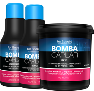 Kit Bomba Capilar Com Máscara de 1 kg For Beauty