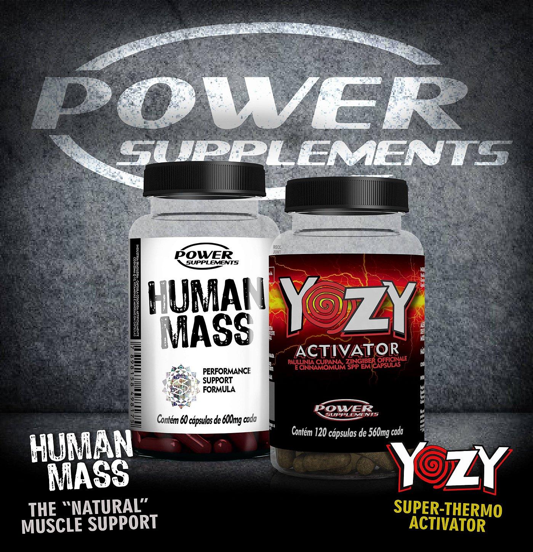 Combo massa e definição - Pré Hormonal Human Mass e Termogênico Yozy Activator