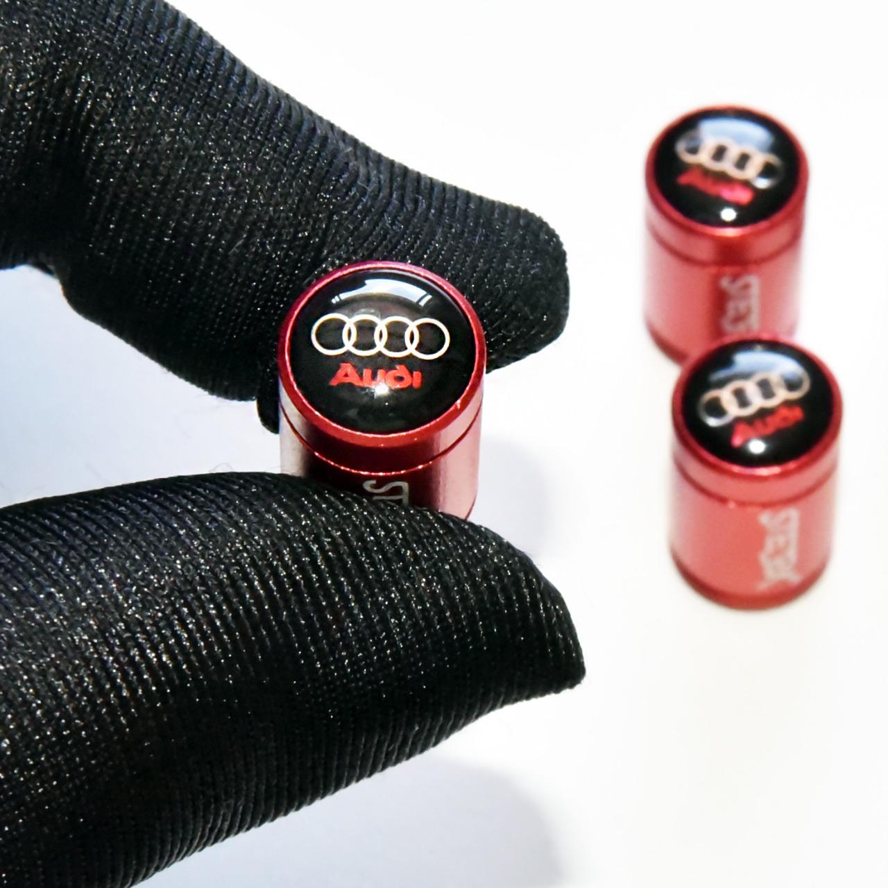 Acessório Kit Bicos Audi Válvula De Pneu Tampa Roda A1 A4 Q5 A3 A6 A8 Q3 TT