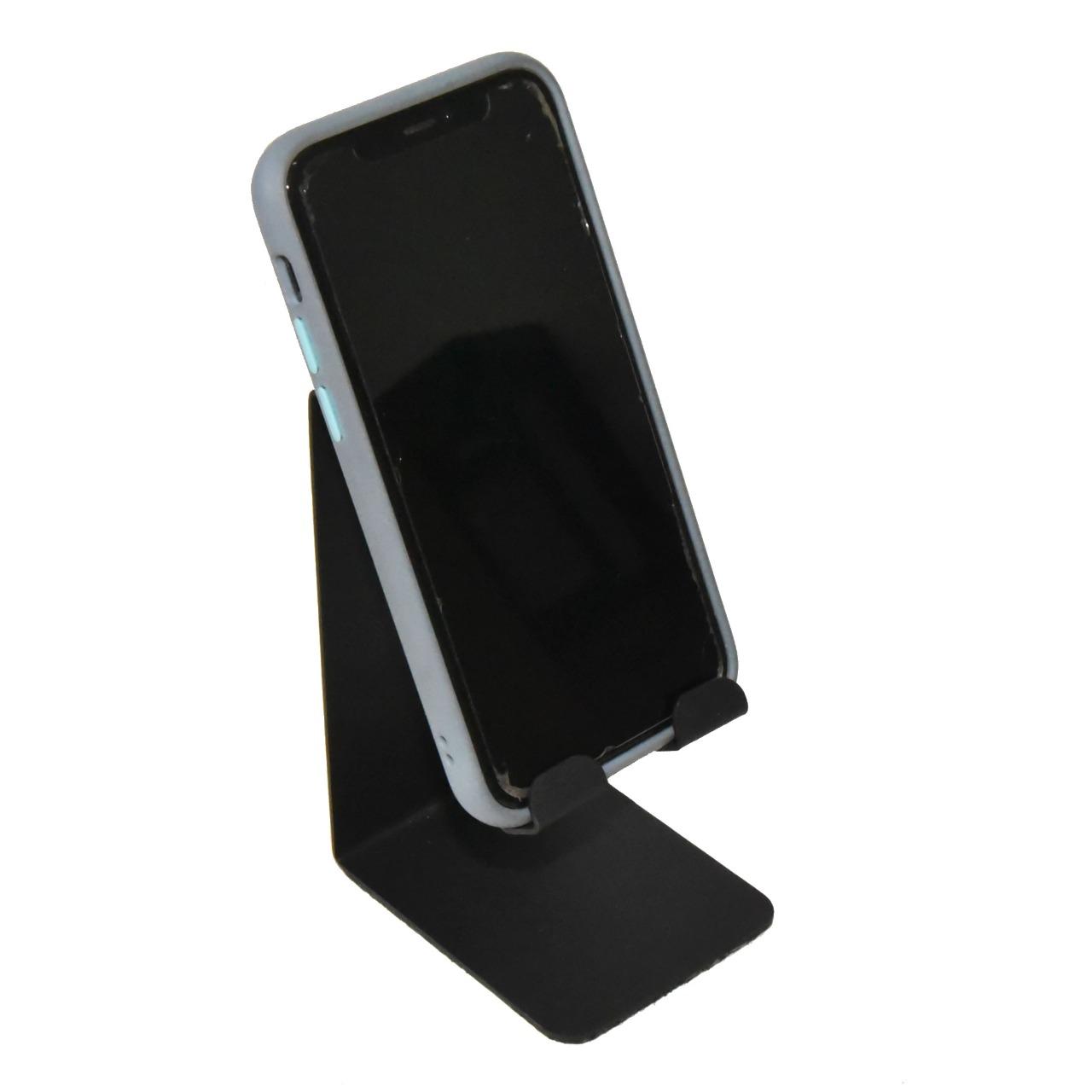 Suporte Celular de Mesa Smartphone Iphone Universal Escritório Lives Display Samsung LG Xioami Motorola Nokia Positivo Alcatel Multilaser Asus HP Metal