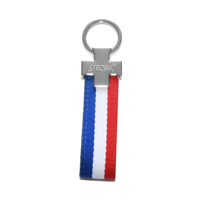 Chaveiro automotivo de lona Sterk - Estampa cores Bandeira França