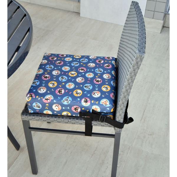 Assento Almofada de Elevação Infantil para Cadeira de Alimentação Cadeirinha de Crianças Bebês UNIVERSAL - Estampa Gatinhos Gatinho Peixe Fofa Menino Menina
